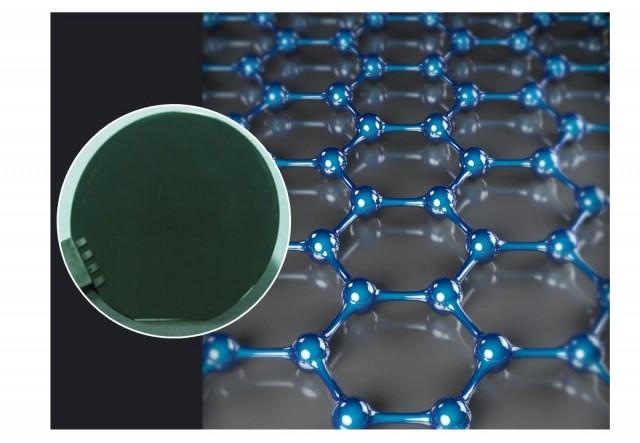 게르마늄이 입혀진 실리콘웨이퍼 표면에서 성장한 단결정 그래핀. - 삼성전자 종합기술원 제공